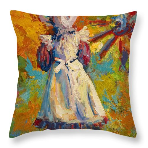 Figure Throw Pillow featuring the painting Country Girl by Marion Rose