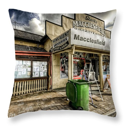 Grocer Throw Pillow featuring the photograph Country Grocer by Wayne Sherriff