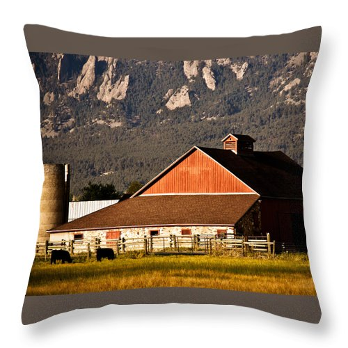Americana Throw Pillow featuring the photograph Country Living Boulder County by Marilyn Hunt