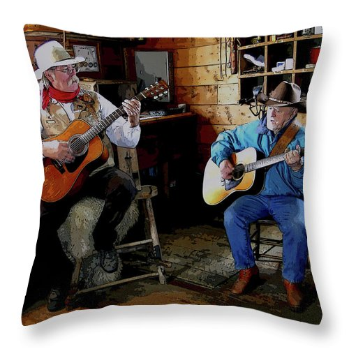 Al Bourassa Throw Pillow featuring the photograph Country Pickin by Al Bourassa
