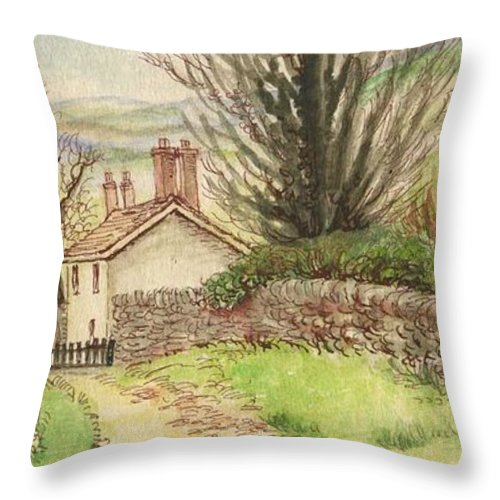 Art Throw Pillow featuring the painting Country Scene Collection 1 by Morgan Fitzsimons
