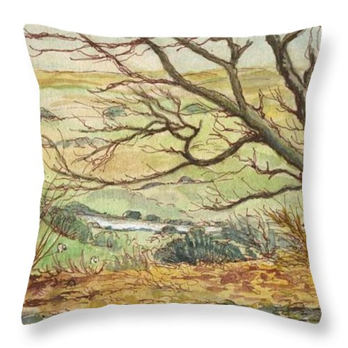 Art Throw Pillow featuring the painting Country Scene Collection 2 by Morgan Fitzsimons