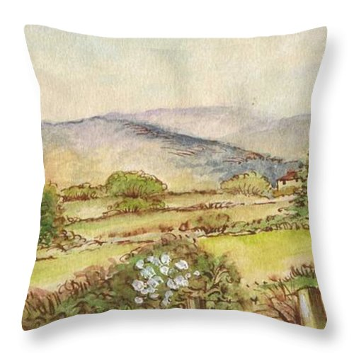 Art Throw Pillow featuring the painting Country Scene Collection 3 by Morgan Fitzsimons