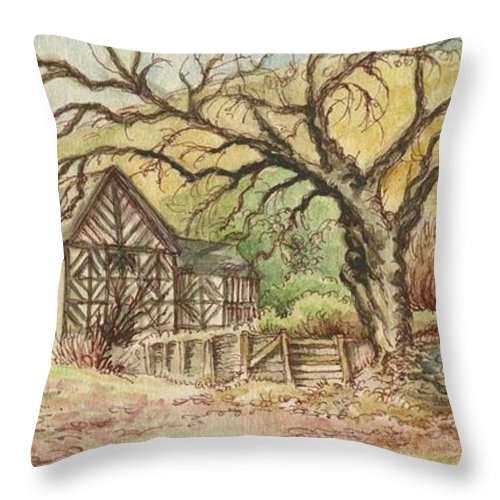 Art Throw Pillow featuring the painting Country Scene Collection by Morgan Fitzsimons