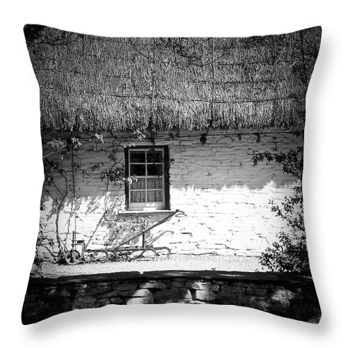 Irish Throw Pillow featuring the photograph County Clare Cottage Ireland by Teresa Mucha