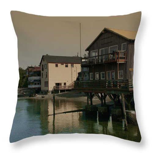 Coupeville Throw Pillow featuring the photograph Coupeville Reflections Dm5014 by Mary Gaines