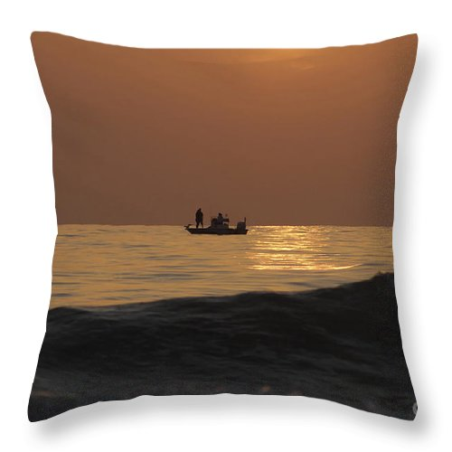 Sunset Throw Pillow featuring the photograph Couples At Sunset by David Lee Thompson