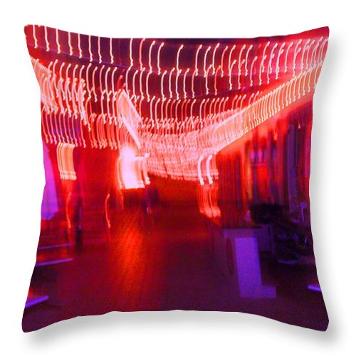 Photograph Throw Pillow featuring the photograph Courtside Lounge 2 by Thomas Valentine
