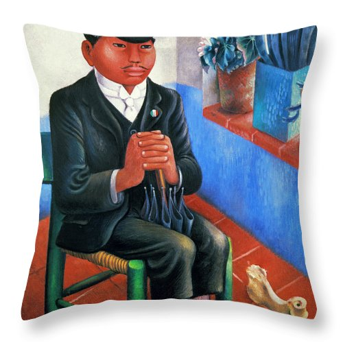 1930s Throw Pillow featuring the photograph Covarrubias: The Bone by Granger