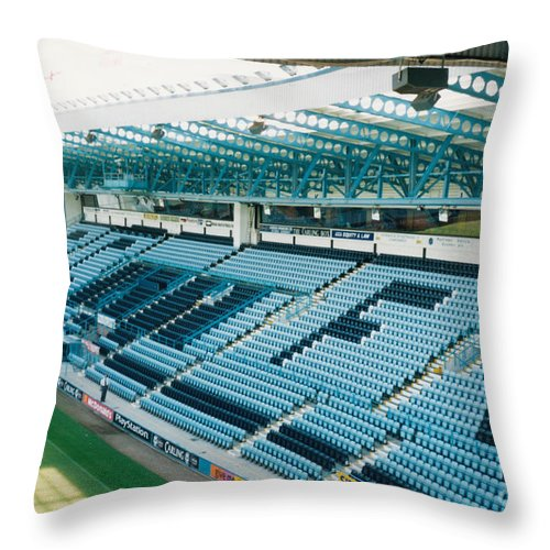 Coventry City Throw Pillow featuring the photograph Coventry City - Highfield Road - South Side Main Stand 3 - August 1997 by Legendary Football Grounds