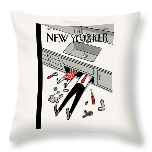 Fathers Day Off Throw Pillow