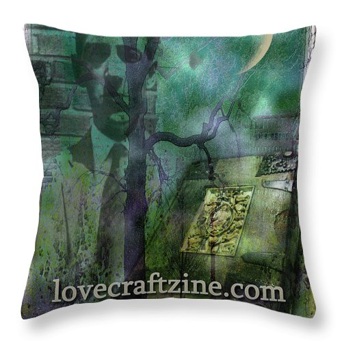 Lovecraft Throw Pillow featuring the digital art Cover Page by Mimulux patricia No