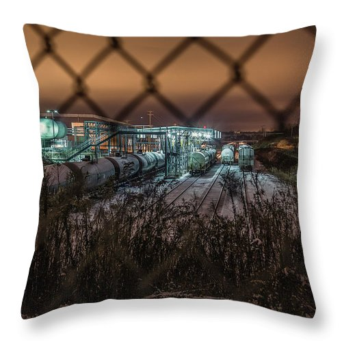 Train Throw Pillow featuring the photograph Covert Danger by Everet Regal
