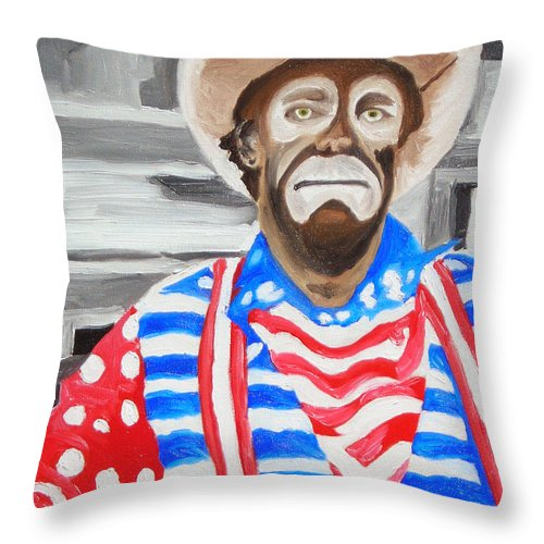 Rodeo Throw Pillow featuring the painting Cowboy Savior by Michael Lee