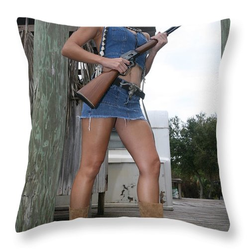 Cowgirl Boots Legs Sexy Glamorous Throw Pillow featuring the photograph Cowgirl 021 by Lucky Cole