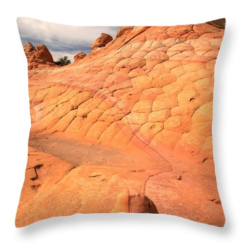 Coyote Buttes Throw Pillow featuring the photograph Coyote Buttes South by Adam Jewell