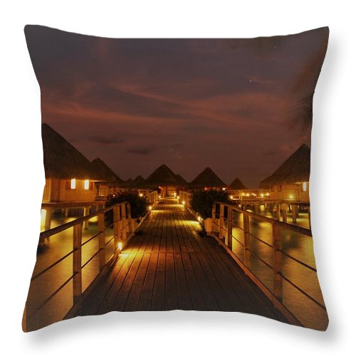 Throw Pillow featuring the photograph Cozy Cottages by Nick Difi