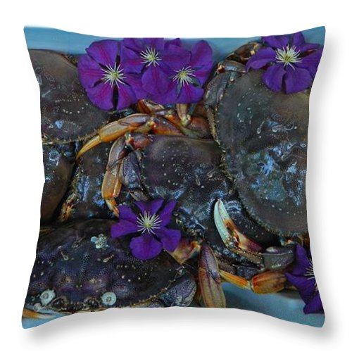 Award Winning Photo Throw Pillow featuring the photograph Crab Feed by Shannon West