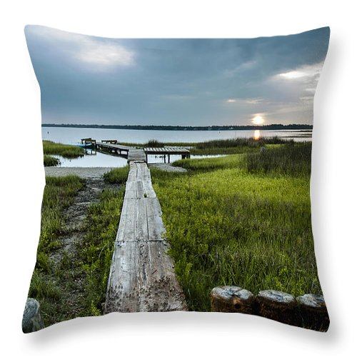 Sunrise Throw Pillow featuring the photograph Crab Walk by Norman Johnson