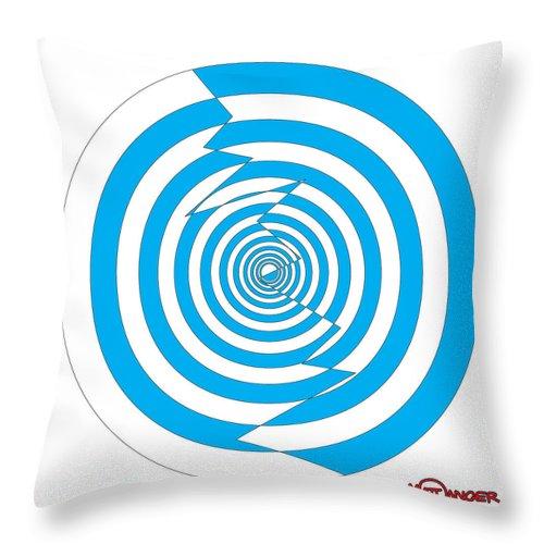 Arrow Star Throw Pillow featuring the digital art Cracked Circles 1 by Matt Danger