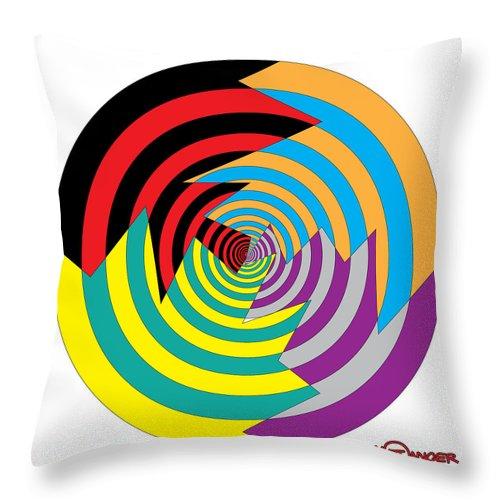 Cracked Circles Throw Pillow featuring the digital art Cracked Circles 2 by Matt Danger