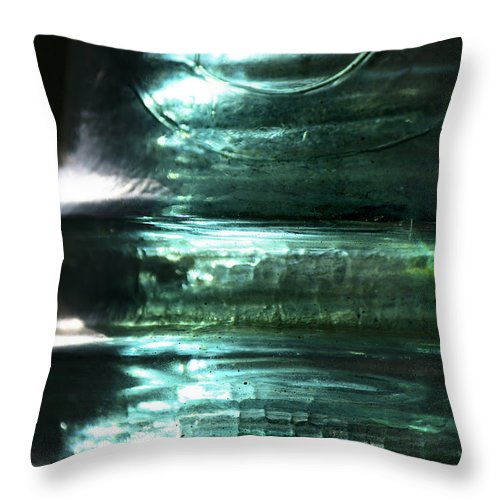 Glass Throw Pillow featuring the photograph Cracked Glass by Sari Sauls