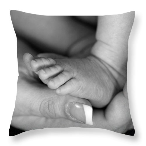Baby Throw Pillow featuring the photograph Cradled by Angela Rath