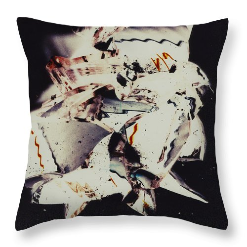 Abstract Throw Pillow featuring the photograph Craft by David Rivas
