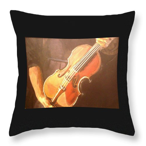 Art Throw Pillow featuring the painting Craftsman by Rick Elam