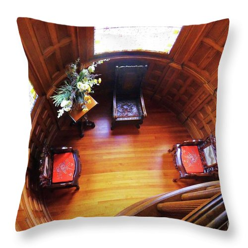 Castle Throw Pillow featuring the photograph Craigdarrock Castle by Camille Brighten