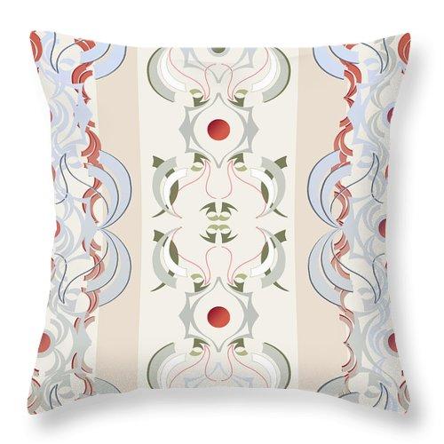 Beige Throw Pillow featuring the digital art Crane by Ceil Diskin