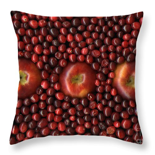 Slanec Throw Pillow featuring the photograph Cranapple by Christian Slanec