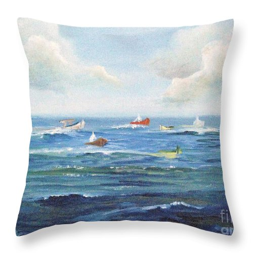 Impressionism Throw Pillow featuring the painting Crashboat Beach by Alicia Maury