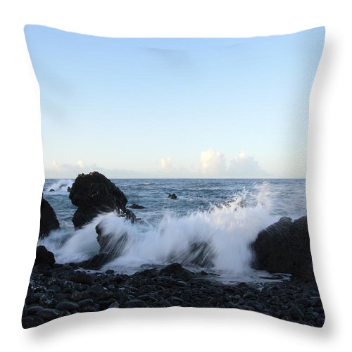 Waves Throw Pillow featuring the photograph Crashing Wave by Phil Crean