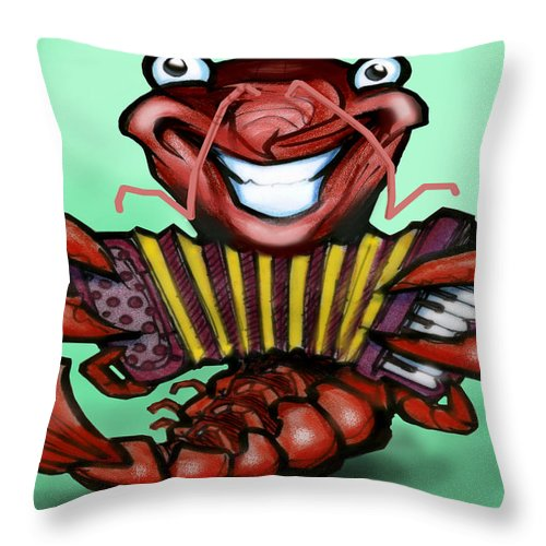 Crawfish Throw Pillow featuring the digital art Crawfish by Kevin Middleton