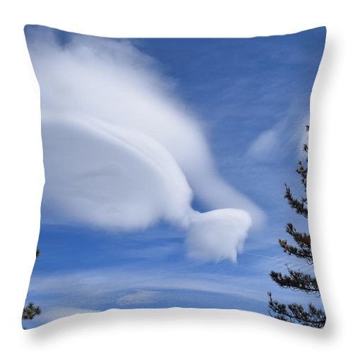 Clouds Throw Pillow featuring the photograph Crazy Clouds by Christina McNee-Geiger
