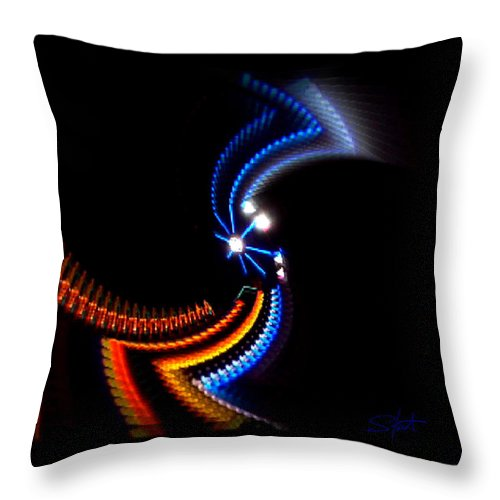Chaos Throw Pillow featuring the photograph Crazy Dancer by Charles Stuart
