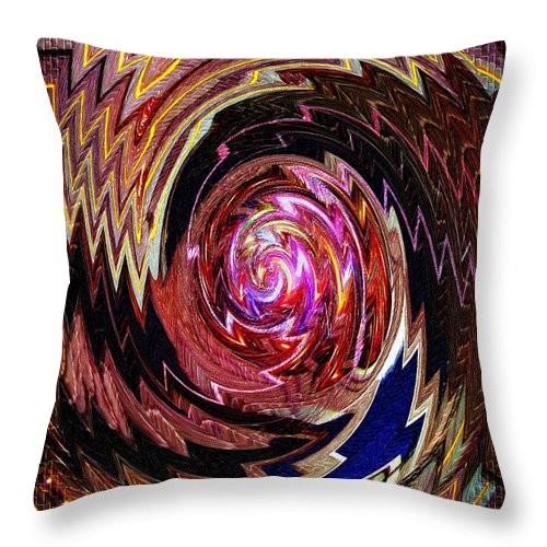 Abstract Throw Pillow featuring the photograph Crazy Swirl Art by Sue Melvin