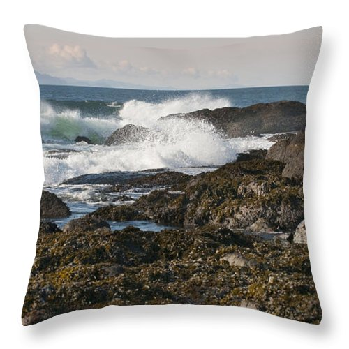 Waves Throw Pillow featuring the photograph Creating Waves by Chad Davis