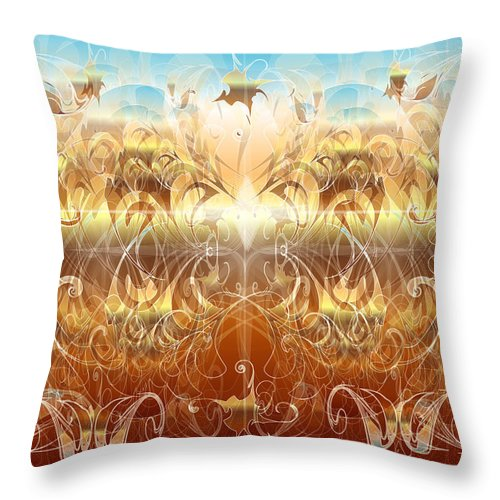 Fantasy Throw Pillow featuring the digital art Creation II by George Pasini
