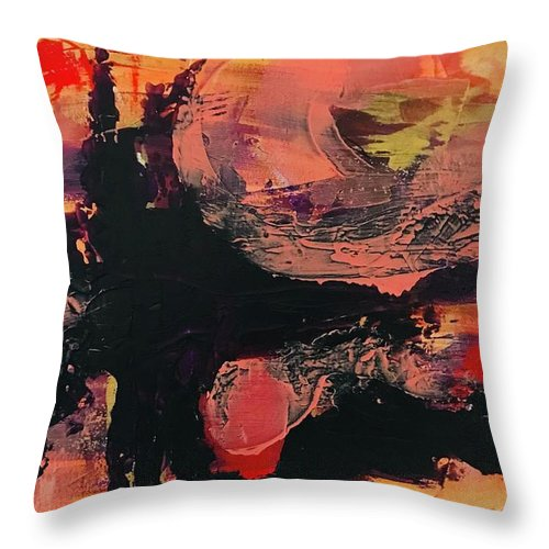 Painting Throw Pillow featuring the painting Creation by Laura Jaffe