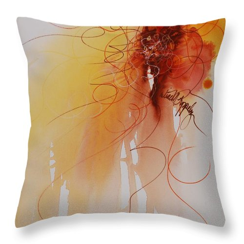 Creativity Throw Pillow featuring the painting Creativity by Nadine Rippelmeyer