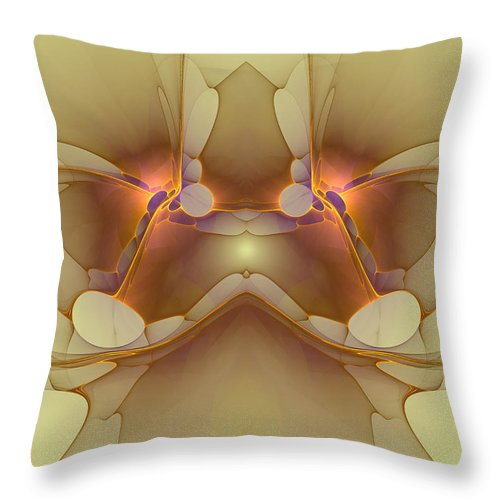 Apophysis Throw Pillow featuring the digital art Creature From Beyond by Deborah Benoit