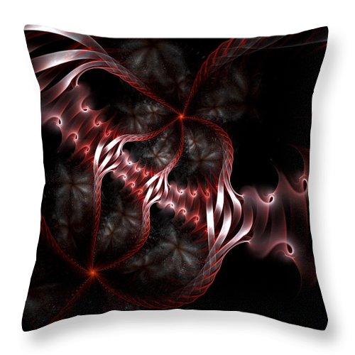 Fractal Throw Pillow featuring the digital art Creatures Of The Deep by Amorina Ashton