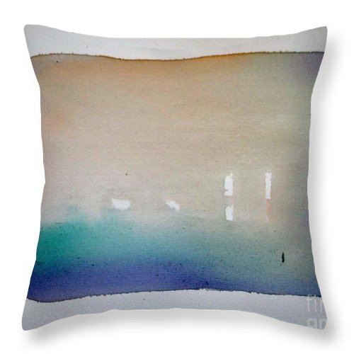 Abstract Throw Pillow featuring the painting Creedence Rivaval by Vesna Antic