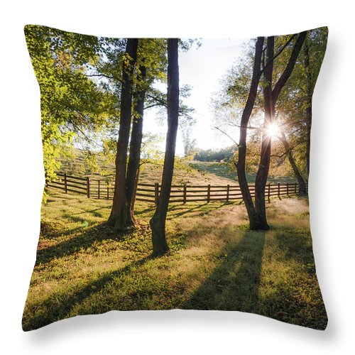 Landscape Throw Pillow featuring the photograph Creeper Sunset by Jim Love