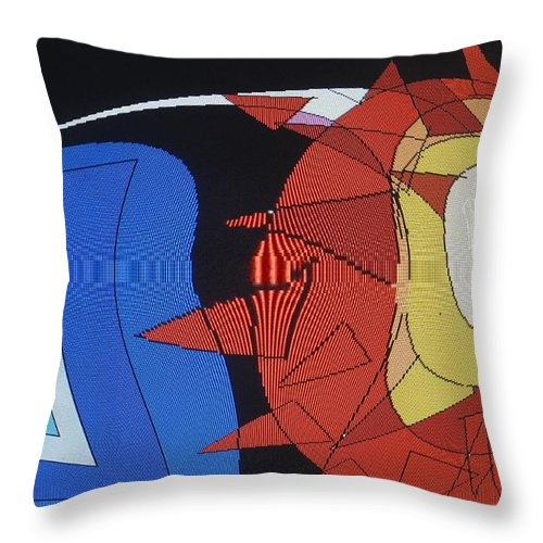 Abstract Throw Pillow featuring the digital art Crescendo One by Ian MacDonald
