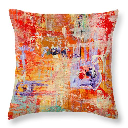 Large Format Painting Throw Pillow featuring the painting Crescendo by Pat Saunders-White