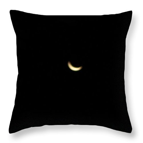 Moon Throw Pillow featuring the photograph Crescent Moon by Michelle Miron-Rebbe