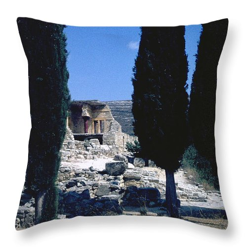 Crete Throw Pillow featuring the photograph Crete by Flavia Westerwelle
